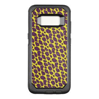 Bright Purple Yellow Cheetah OtterBox Commuter Samsung Galaxy S8 Case