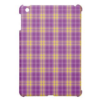 Bright Purple Yellow Plaid Pattern iPad Speck Case iPad Mini Cover