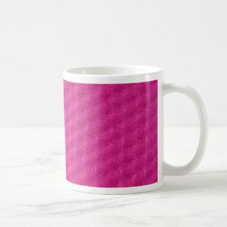 Bright purplish pink with depressions coffee mug