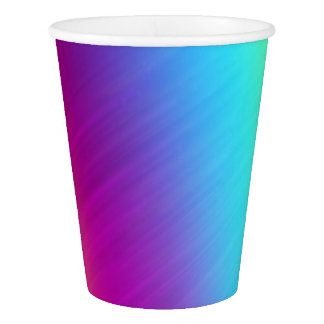 Bright Rainbow Colored Abstract Art Paper Cups
