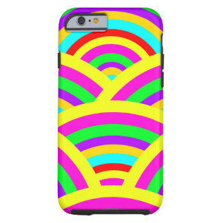 Bright Rainbow Colorful Arches Stripes Tough iPhone 6 Case