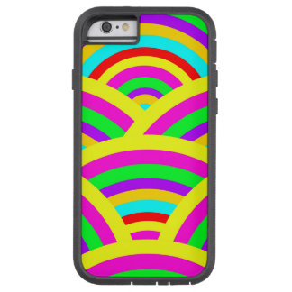 Bright Rainbow Colorful Arches Stripes Tough Xtreme iPhone 6 Case