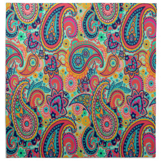 Bright Rainbow Paisley Cloth Napkin