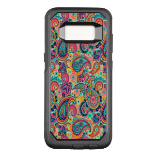 Bright Rainbow Paisley OtterBox Commuter Samsung Galaxy S8 Case