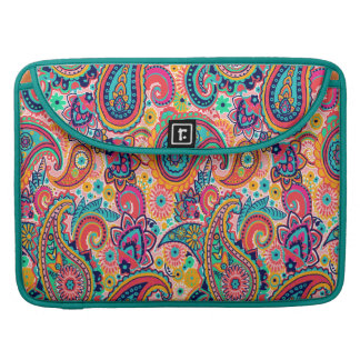 Bright Rainbow Paisley Sleeve For MacBooks