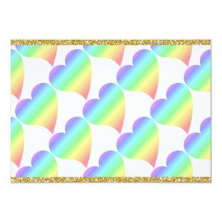 Bright Rainbow Retro Pastel Heart Cards