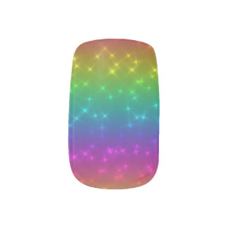 Bright Rainbow Sparkles Nail Art