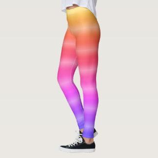 Bright Rainbow Stipes Leggings