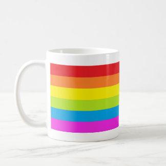 Bright Rainbow Stripe Coffee Mug
