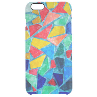 Bright Random Colors & Shapes Mosaic Pattern Clear iPhone 6 Plus Case