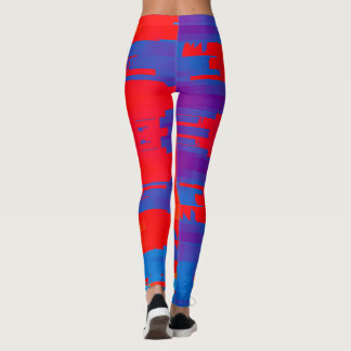 Bright Red and Blue Leggings