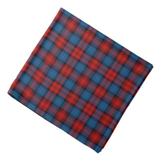 Bright Red and Blue MacLachlan Clan Scottish Plaid Bandana