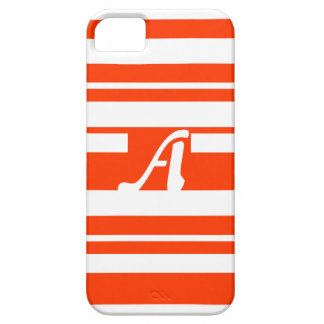 Bright Red and White Random Stripes Monogram iPhone 5/5S Cover