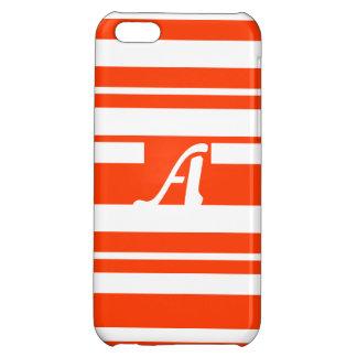 Bright Red and White Random Stripes Monogram iPhone 5C Case
