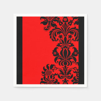bright red baroque paper party napkins disposable napkins
