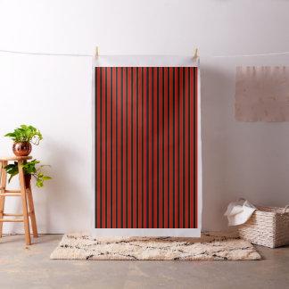 Bright red/black broader, gold pin stripe fabric