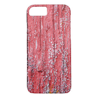 Bright red board wall with small mold growing iPhone 7 case