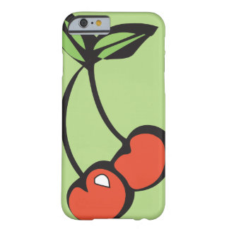 Bright Red Cherries w/ Green Leaves iPhone Barely There iPhone 6 Case