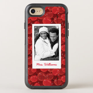 Bright Red Cherry Pattern | Add Your Photo OtterBox Symmetry iPhone 8/7 Case
