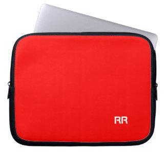 Bright Red Custom Laptop Bag Computer Sleeves