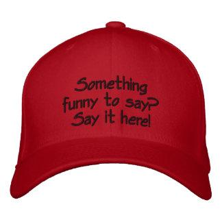 Bright red customisable cap