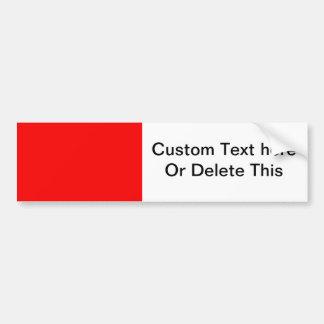 bright red DIY custom background template Car Bumper Sticker