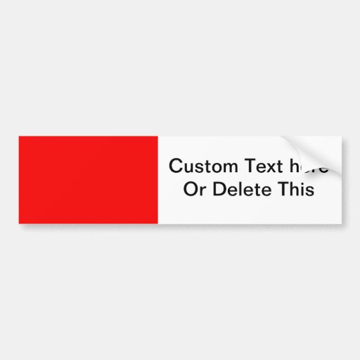 bright red DIY custom background template Bumper Sticker
