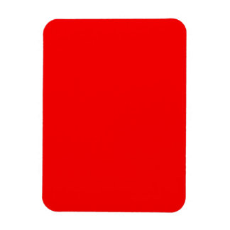bright red DIY custom background template Rectangle Magnet