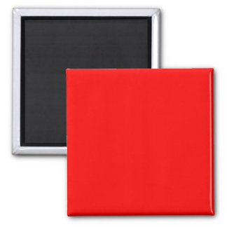 bright red DIY custom background template Square Magnet
