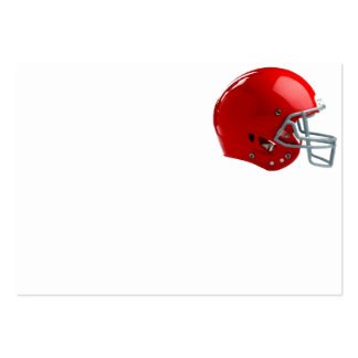 Bright Red Football Helmet Pack Of Chubby Business Cards