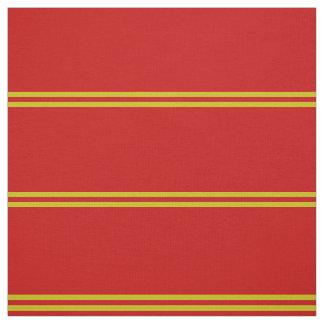 Bright red, gold striped design fabric