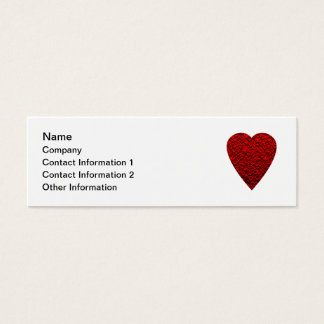 87 heart shaped business cards and heart shaped business for Heart shaped business cards