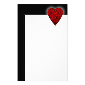 Bright Red Heart Picture. Personalised Stationery
