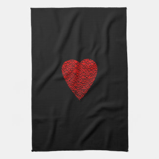 Bright Red Heart Picture. Hand Towel