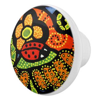 Bright Red Ladybug Ceramic Knob