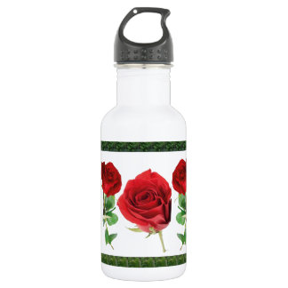 Bright red means love : for all Occassions 18oz Water Bottle