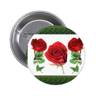 Bright red means love Gift for all Occassions Pinback Buttons