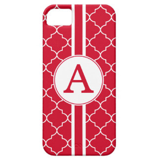 Bright Red Monogram iPhone 5 Case