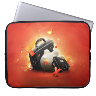 Bright Red \Orange Laptop Sleeve