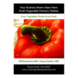 Bright Red Pepper Photo Business Card Templates