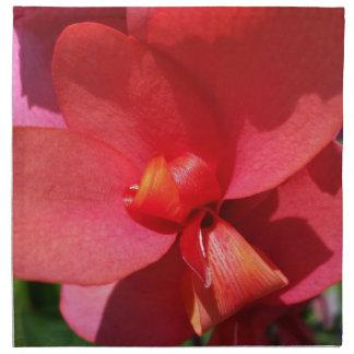bright red petals printed napkin