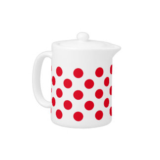 Bright Red Polka Dot