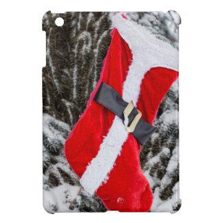 Bright Red Santa Stocking iPad Mini Case