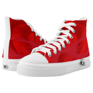 Bright red shoes