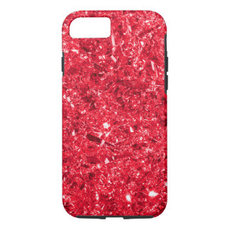 Bright Red Shredded Foil Texture Pattern iPhone 7 Case