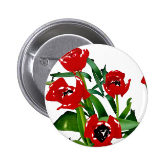 Bright Red Tulips Pin
