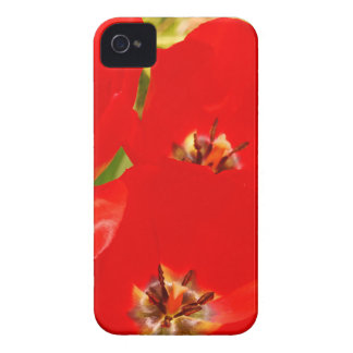 Bright Red Tulips iPhone 4 Case