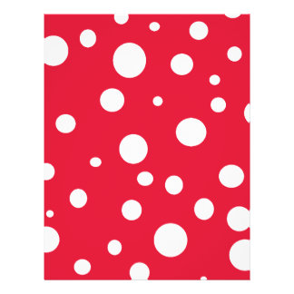 Bright Red with White Polka Dots 21.5 Cm X 28 Cm Flyer
