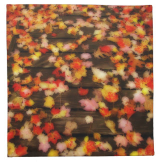 Bright Red Yellow Autumn Maple Leaves Napkins