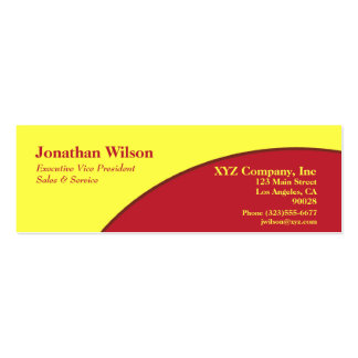 Bright red yellow circle business card template